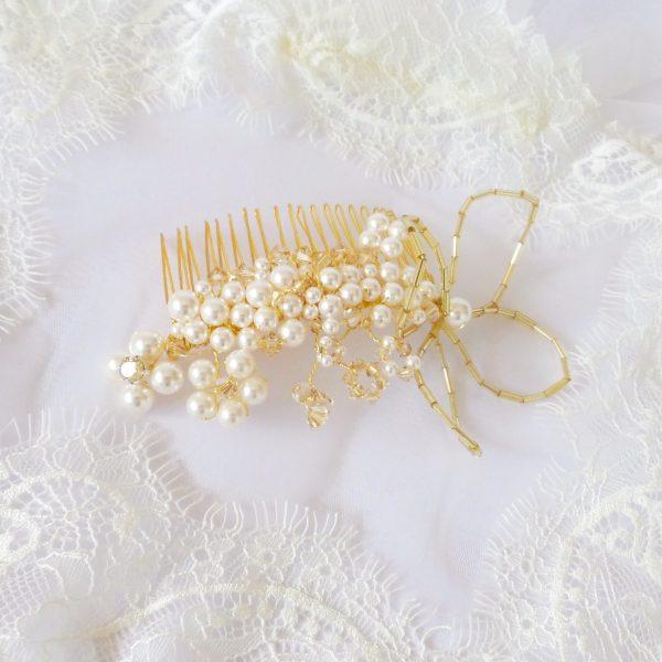 pieptene-par-auriu-perle-swarovski-golden