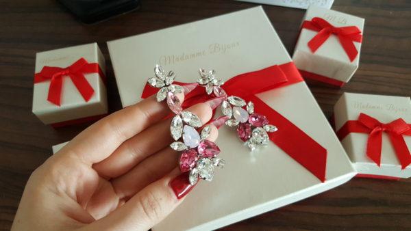 cercei-prestige-lungi-spectaculosi-crystal-roz-swarovski